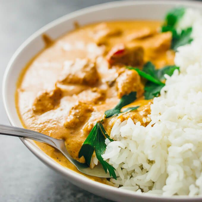 This homemade stovetop Best Chicken Tikka Masala recipe is an authentic chicken curry dinner made from scratch. The restaurant style sauce is the best - creamy & spicy with garam masala. It's a tasty Indian food recipe that's easy, fast, quick, & simple. Great for weeknight dinners, it's also healthy, low carb, keto, and adaptable to whole 30 and paleo using coconut milk and dairy free yogurt for the marinade. #dinner Serve with traditional sides like Asian basmati rice and naan.