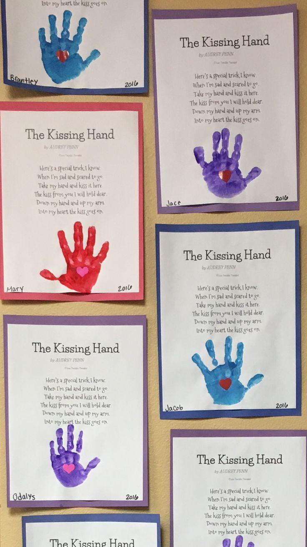 "Letter K craft. ""The Kissing Hand"" poem 😙❤️"
