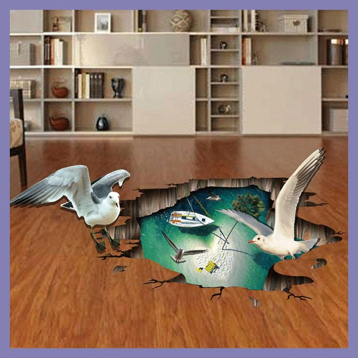 3D Stereo Seagull Wall Sticker Floor Wall Decor DIY Pegatinas Paredes Decoracion Stickers Muraux For Kids Rooms