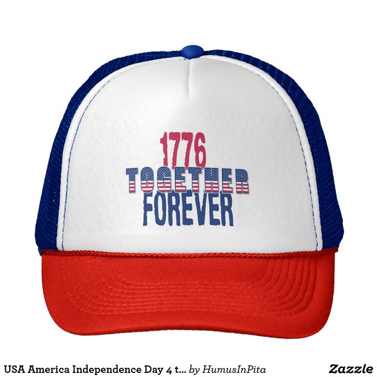 USA America Independence Day 4 th July Patriotic Trucker Hat