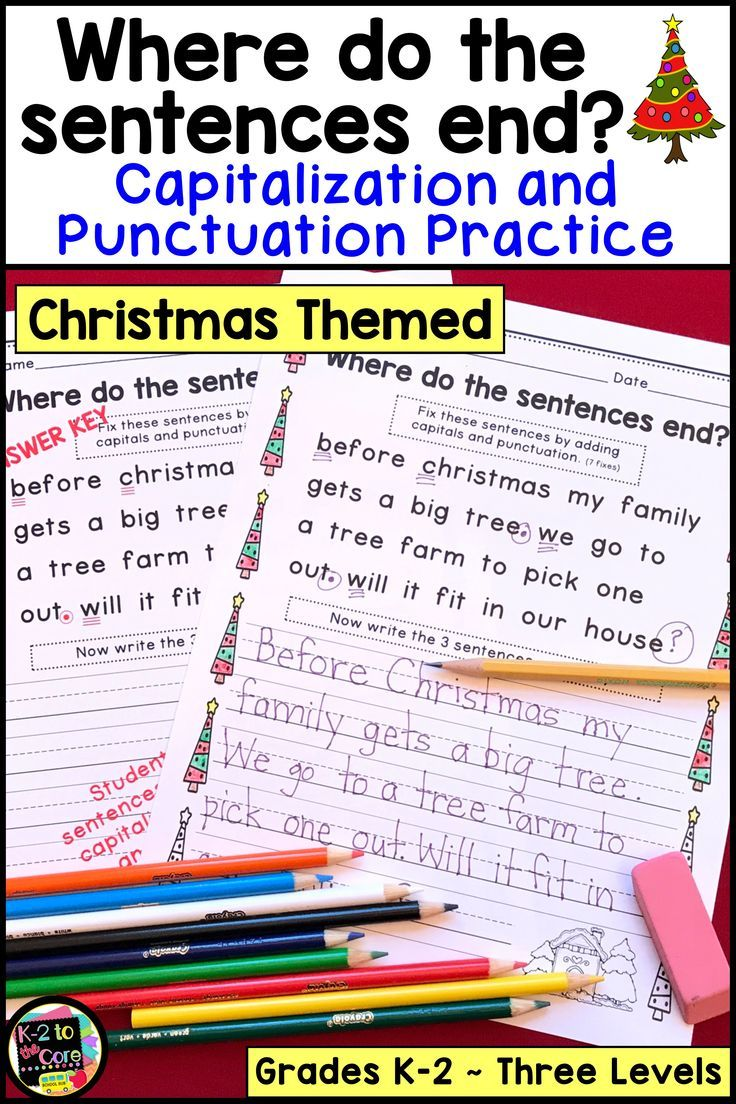 Christmas Writing Punctuation And Capitalization Practice First Grade Lessons Christmas Writing Capitalization [ 1104 x 736 Pixel ]