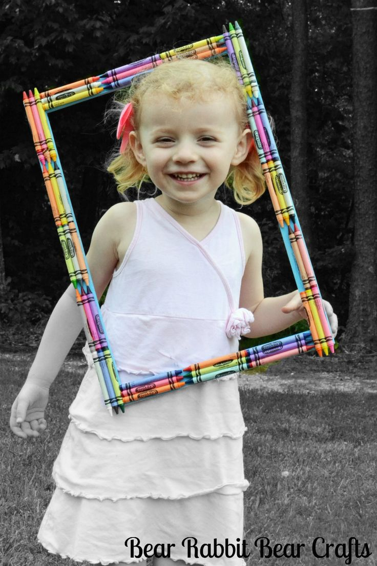 This crayon picture frame is perfect for creative photo shoots!