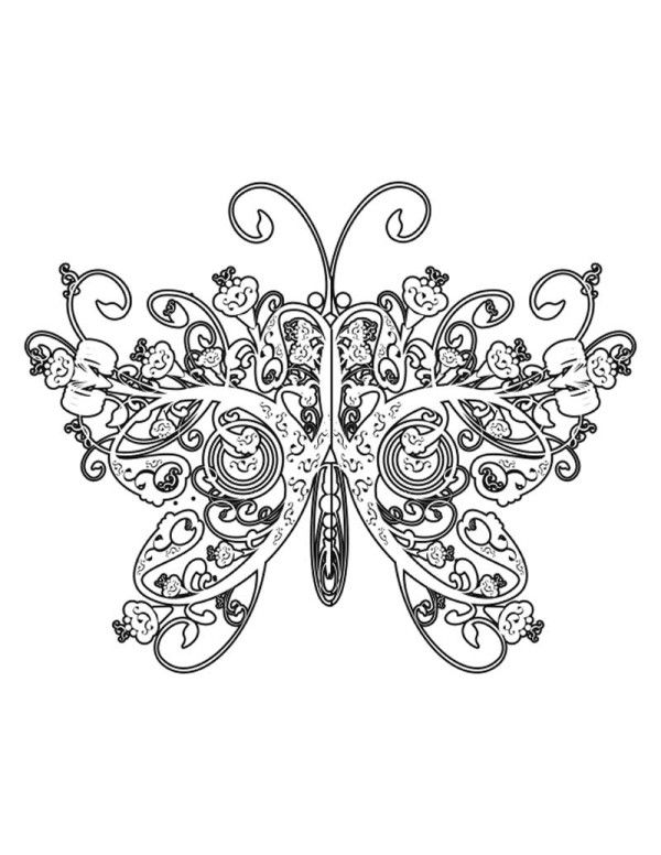 Printable Coloring Pages Of Butterflies Butterfly Free