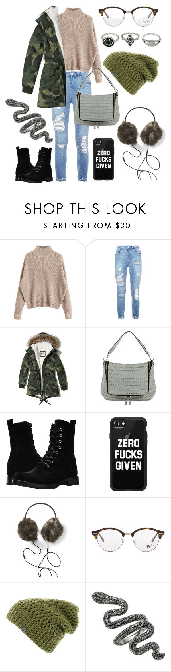 """I miss you"" by victoria-lynn-earp ❤ liked on Polyvore featuring Hollister Co., Anya Hindmarch, Frye, Casetify, Ray-Ban and The North Face"