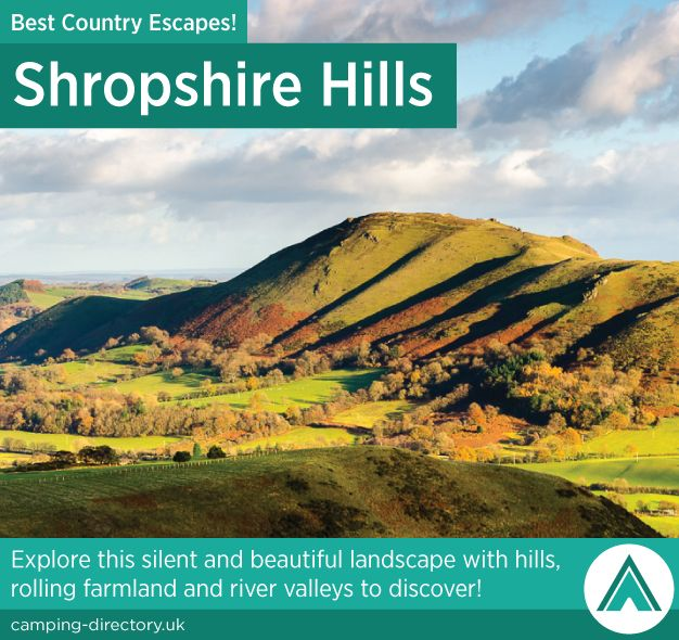 Shropshire Hills. Country Escape. Explore this silent and beautiful landscape with hills, rolling farmland and river valleys to discover.
