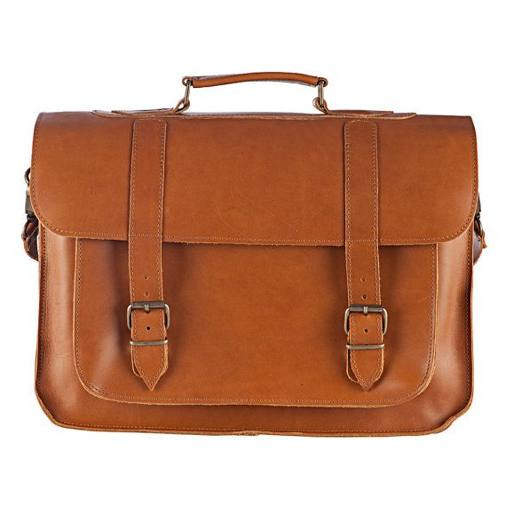 LEATHER LAPTOP BAG Business Briefcase Laptop by NickysLeather