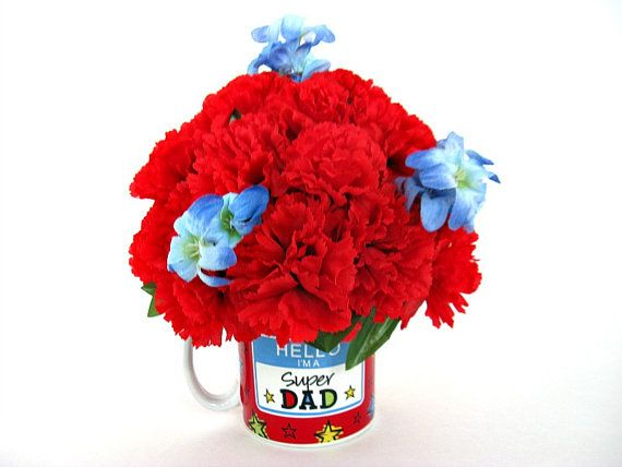 Father's Day mug bouquet, Father's Day gift arrangement by JDsBowCreations - give this bouquet to your dad, grandfather, step dad or other man in your life.
