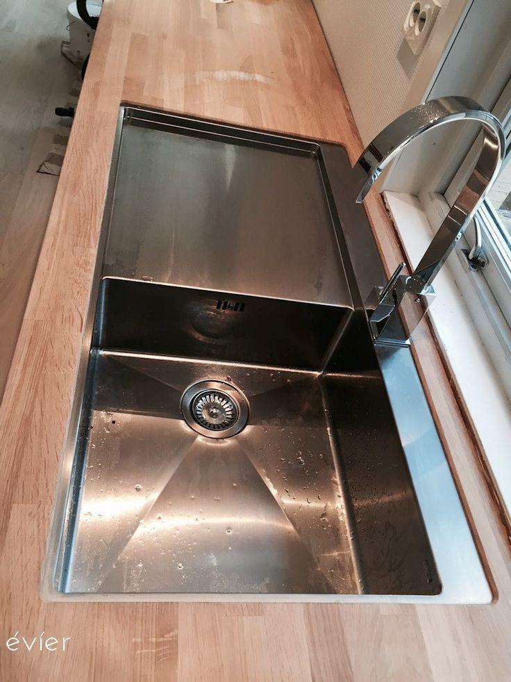 Køkkenvask fra évíer med drypbakke, rustfrit stål. model LYON-60