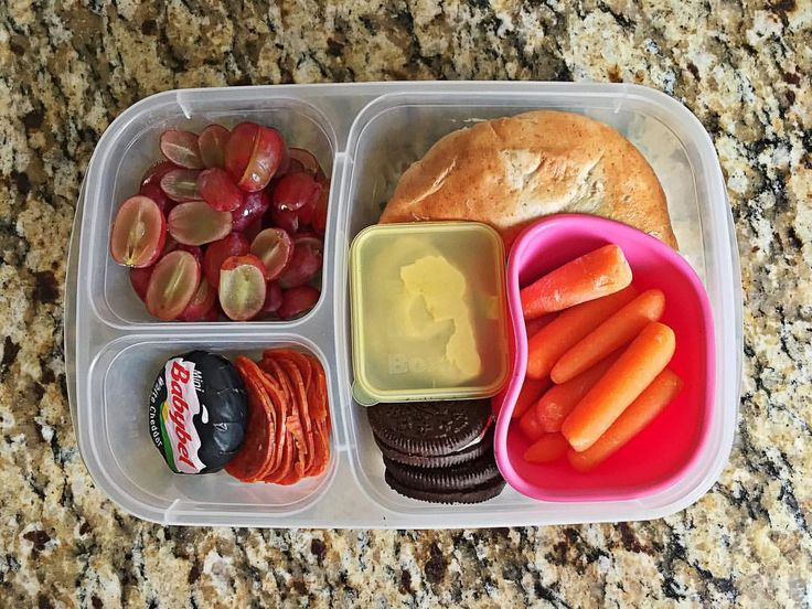 This lunch is brought to you by a second grader who rocked her first day at a new school:) she packed this lunch all by herself tonight in an @easylunchboxes container. Our favorite if you can't tell:) she packed half of a bagel with cream cheese, carrots with hummus, grapes, pepperoni, a @babybelus cheese and a couple cookies. #homemadehappymeals #easylunchboxes #packedlunch #schoollunch #kidfood #kidsinthekitchen #secondgrade  via ✨ @padgram ✨(http://dl.padgram.com)