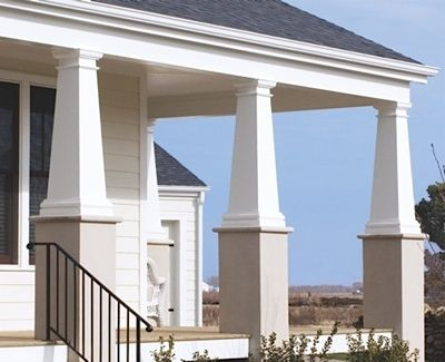 32 best exterior columns images on pinterest column wrap for Permacast columns