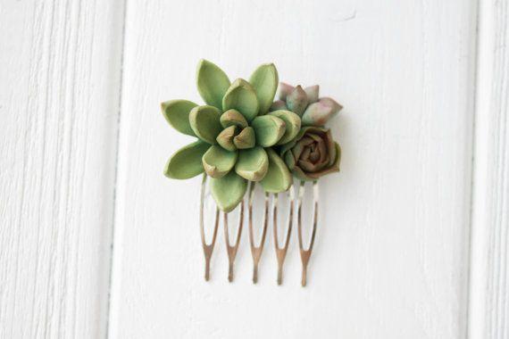 Green Succulent Planter Small Succulent Comb plants arrangement Succulent comb Jewelry wedding birthday gifts