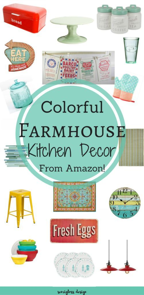 These budget friendly colorful farmhouse kitchen decor picks are the perfect way to add some fun to your boring kitchen!