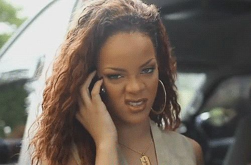 Funny Rihanna GIFs | POPSUGAR Celebrity | remarks: go with he - https://www.pinterest.com/pin/368943394455698868/ for reasons that are obvious; | responce of her: wha, no, no; butt  - https://www.pinterest.com/pin/382806037057232572/ liff sa
