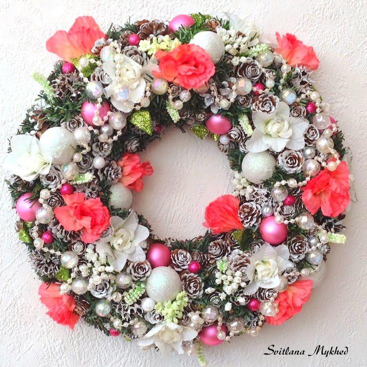 """Couronne décorative """"Shabby Rose"""". Création unique. : Accessoires de maison par perles-et-couronnes"""