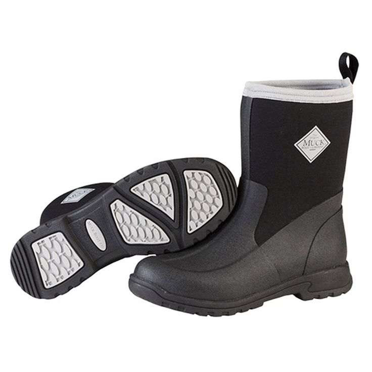 Muck Boot Kid's Breezy Rain Boots Black/Grey Size 11.0M