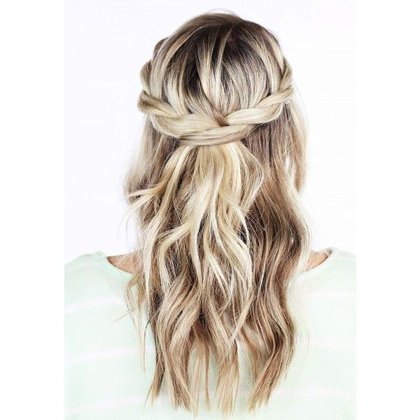 weekend hair THE TWISTED CROWN BRAID bellaMUMMA ❤ liked on Polyvore featuring hair, blonde and braid