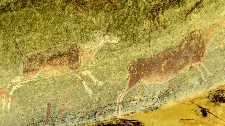 San people rock art, Drakensberg, South Africa