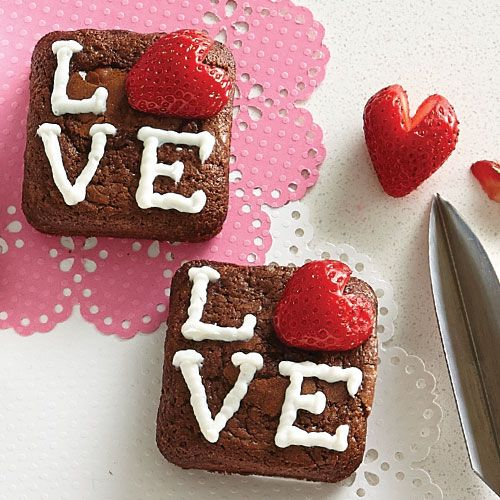 Nothing says love like these yummy brownies — literally!
