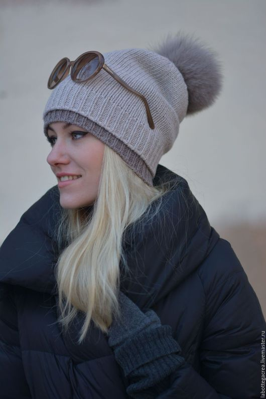 Шапки ручной работы. Вязаная шапка Montane Slouchy Hat 2-1. La Bottega Creativa. Ярмарка Мастеров.