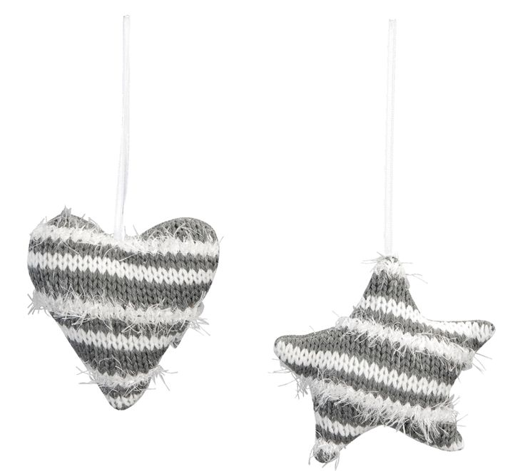 Stoere gebreide ornamenten in grijs met wit #kerst
