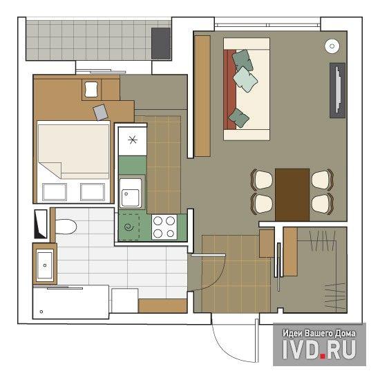 кухня в коридоре, спальня на бывшей кухне http://www.ivd.ru/document.xgi?id=7312