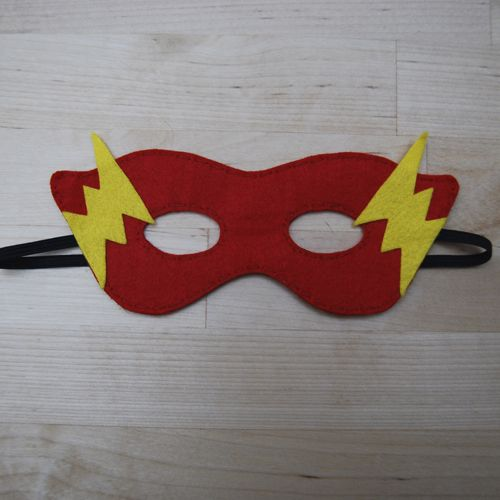 Globers Máscaras de superhéroes en fieltro para niños. Flash. Cumpleaños y fiestas. Cool parties. Superhero felt masks. Kids.