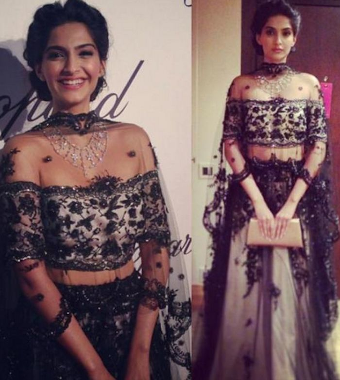 sonam kapoor cannes 2013 4 Sonam Kapoor and Vidya Balan Outfits at Cannes 2013 (1) + Poll