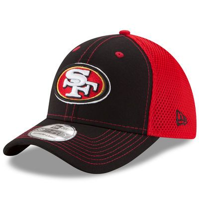 New Era San Francisco 49ers Black/Scarlet Team Front Neo 39THIRTY Flex Hat