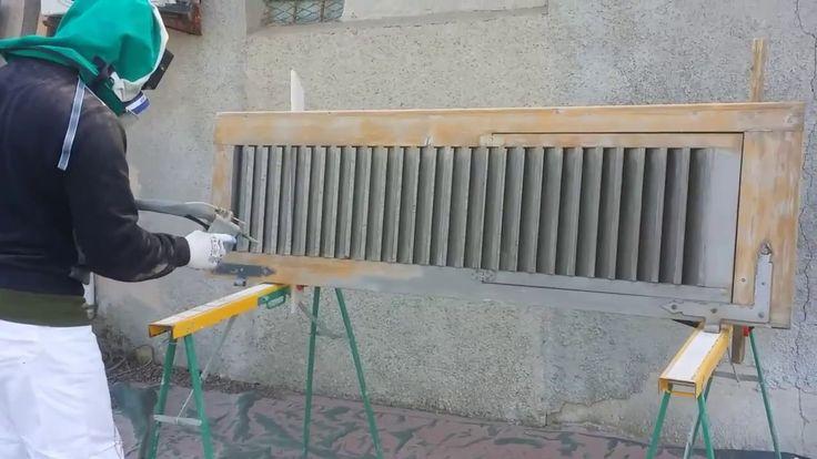 Sverniciatura, sabbiatura persiana il legno