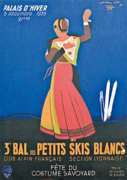3ème bal des petits skis blancs - Club alpin français - Fête du costume savoyard - 1935 - (Boucherat-Jeune) -