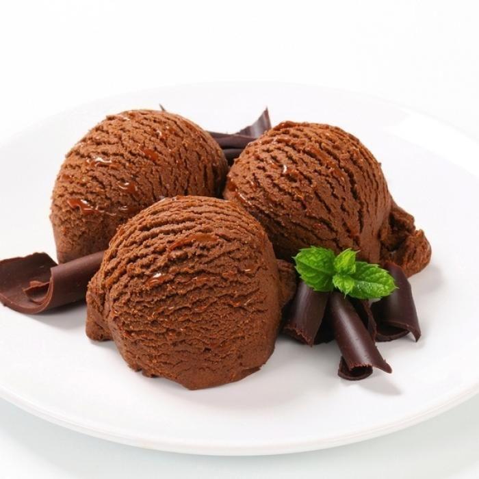 Шоколадное мороженое с мятой