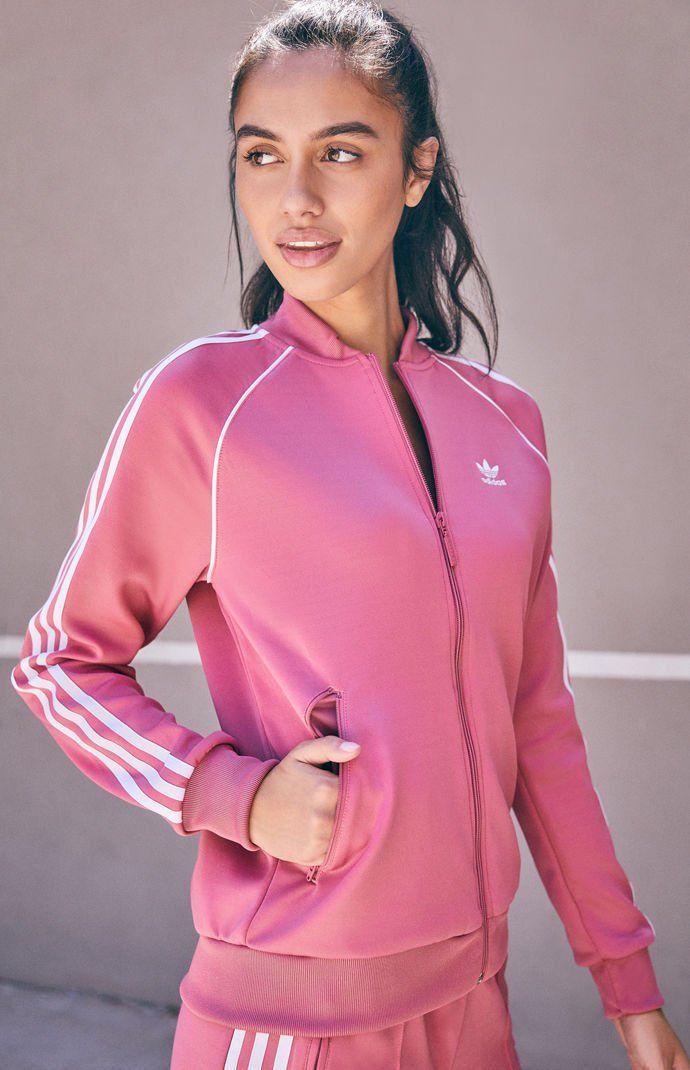 ADIDAS ORIGINALS Sst Track Jacket, Pink. #adidasoriginals