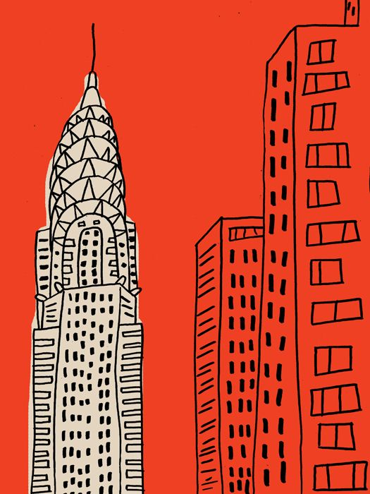 Chrysler Building - My kiddos could do this with buildings from downtown St.Paul
