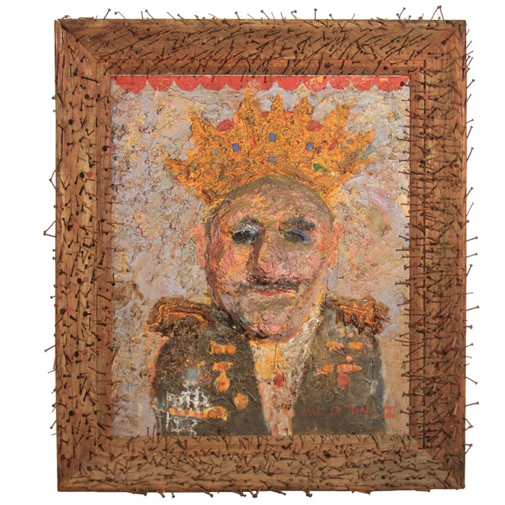 Folk Art Augusto Pinochet Painting