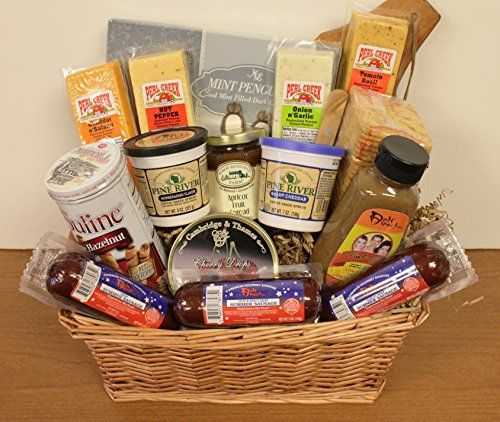 Premium Meat and Cheese Basket - http://mygourmetgifts.com/premium-meat-and-cheese-basket/