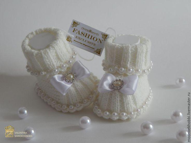 """Купить Пинетки """"Воздушные"""" для девочки - пинетки, вязание на заказ, вязаные пинетки, пинетки для новорожденных ♡"""