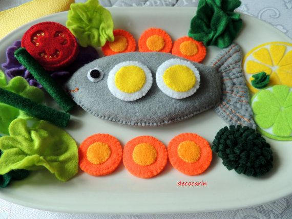 Felt Food Felt Fish Felt Vegetables Felt Fruits Eco by decocarin
