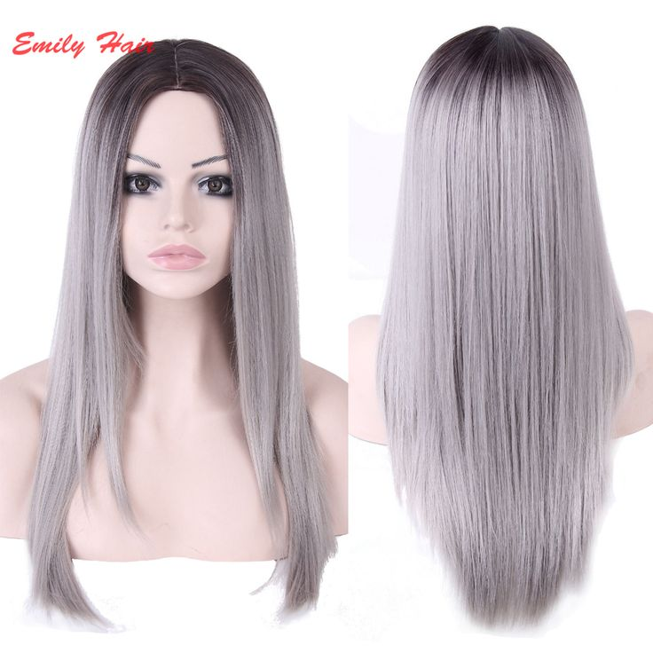 Cheap wig display, Buy Quality wigs for women of color directly from China wig brands Suppliers:                 Emily hair products:2016 Long Grey Wig Cheap Good Quality Wigs For Black Women's Cospl
