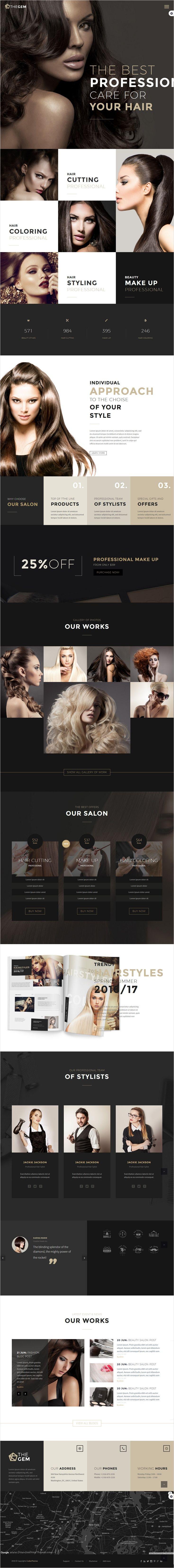 TheGem is a versatile #WordPress theme with modern design for #salon #beautician…