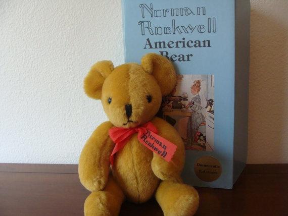 Vintage Norman Rockwell American Bear by catherinefarrens on Etsy, $75.00