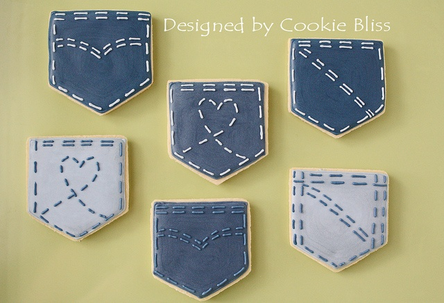 denim pockets cookies....fun for cowboy party