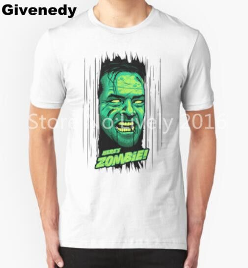 2016 Hotsale Top Tees Here's Zombie T Shirt Man Camisetas Short Sleeve O Neck Casual T-shirts #Affiliate