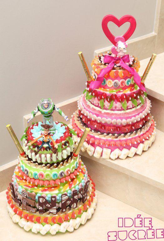 gâteaux et pieces montees de bonbon, bonbon cacher,bonbon parvé,