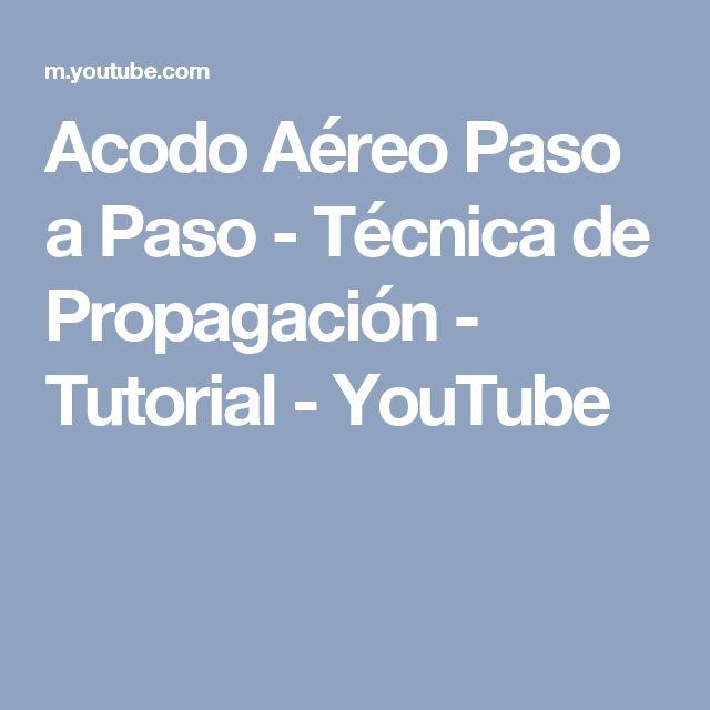 Acodo Aéreo Paso a Paso - Técnica de Propagación - Tutorial - YouTube