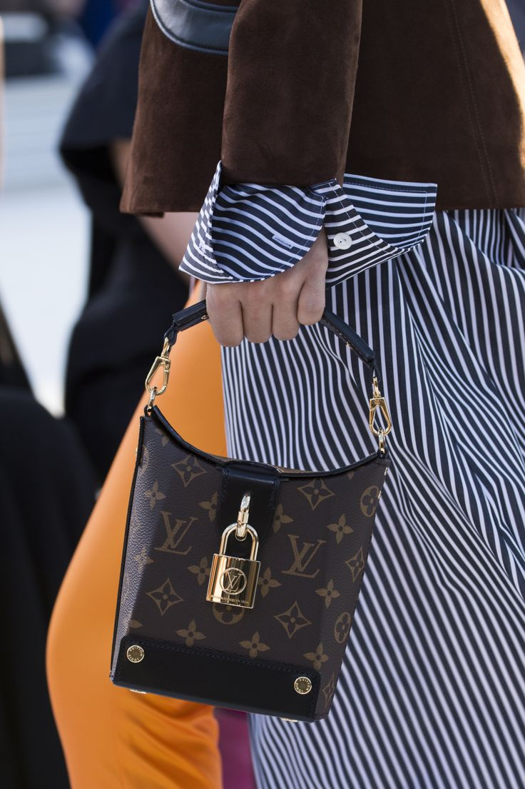 A closer look at a new bag from the Louis Vuitton Cruise 2018 Fashion Show by Nicolas Ghesquière, presented at the Miho Museum near Kyoto, Japan