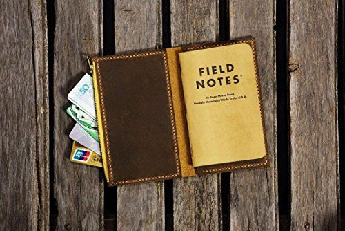 Handmade Minimalist slim filed notes leather cover / Personalized leather case cover for pocket size field notes notebook Groomsman Gift FA605SZ