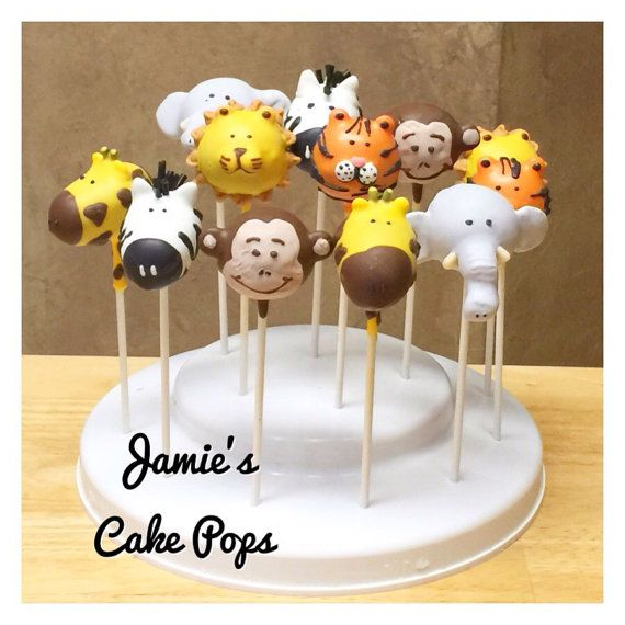 Jungle, Safari, Zoo Animal Cake Pops