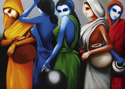 211 best images about Indian art on Pinterest | Acrylics, Canvases ...