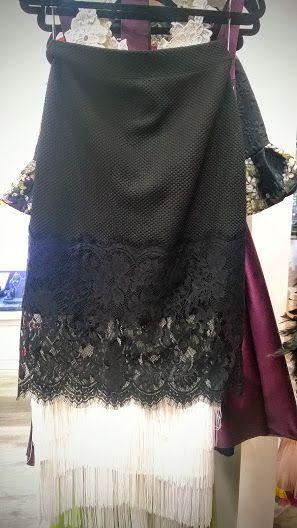 Black Chantilly skirt GO by Gabriella Olar