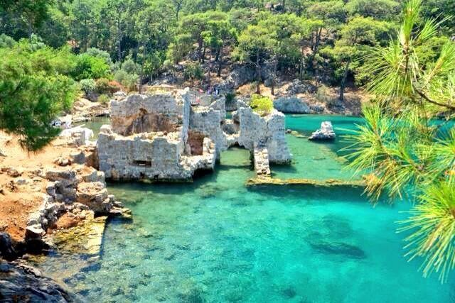 Sunken Lycian City of Kekova, near Kalkan, Antalya, Turkey